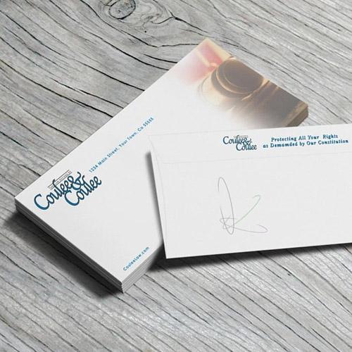 Impressao de envelopes personalizados.