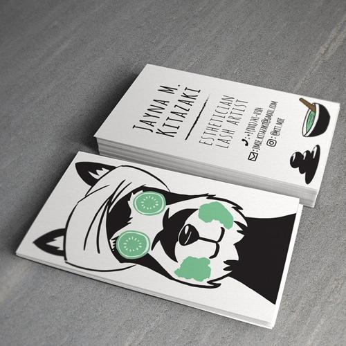 Imprimir cartoes de visita para estetica.