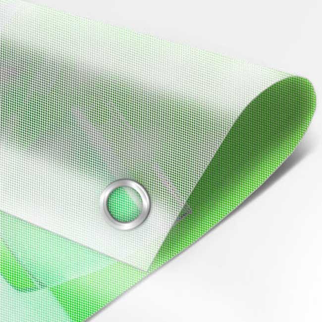 Imprimir lonas micro-perfuradas.